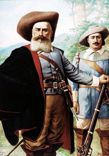 Bandeirantes, como Domingos Jorge Velho (na foto, em primeiro plano), inspiraram em Cassiano Ricardo as ideias bandeiristas *