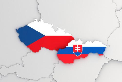 A República Checa e a República Eslovaca originaram-se da extinta Checoslováquia