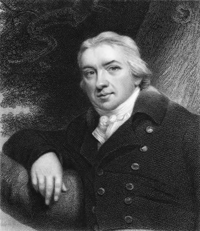 Edward Jenner foi o inglês criador da vacina, no século XVIII