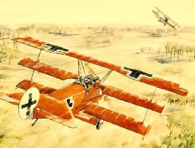 O Fokker DR I foi um dos grandes trunfos militares alemães durante a Primeira Guerra Mundial.