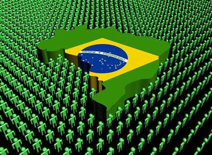 De acordo com dados de 2010 do IBGE, a população brasileira atingiu 190.755.799 habitantes.