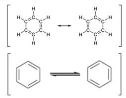 Estrutura de benzeno em ressonância