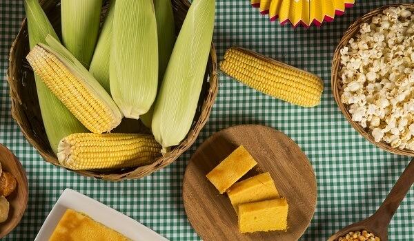 Boa parte dos pratos servidos nas festas juninas é feita com milho