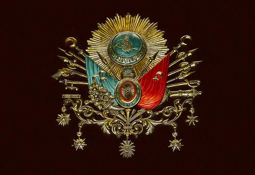 Brasão do Império Otomano, que teve origem em 1299 e só terminou em 1923