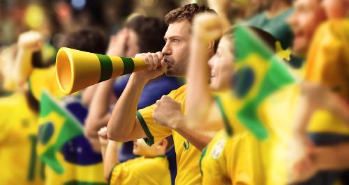 Brasileiro é apaixonado por futebol