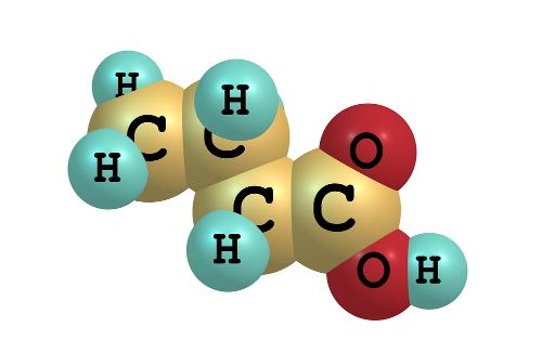 Butírico (butanóico) é um ácido carboxílico com a fórmula estrutural CH<sub>3</sub>CH<sub>2</sub>CH<sub>2</sub>-COOH