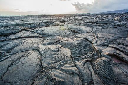 Magma endurecido e já petrificado