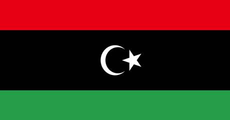 Bandeira da Líbia.