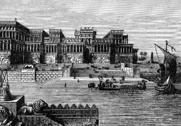 O palácio de Assurbanipal, um dos centros do império assírio.