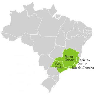 Estados que compõem a Região Sudeste