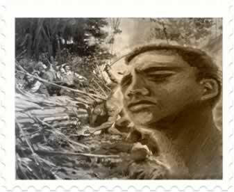 Manoel Congo (à direita), líder negro do Quilombo de Vassouras