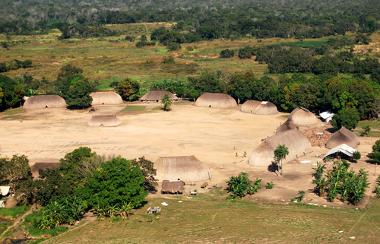 Território da etnia Kamayura, no Mato Grosso. Imagem do ano de 2008