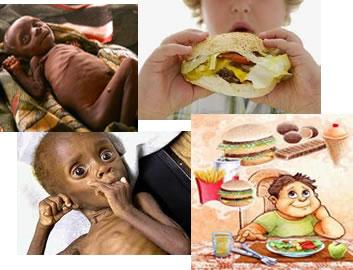A subnutrição pode ser causada pela alimentação inadequada e pela falta de alimentos