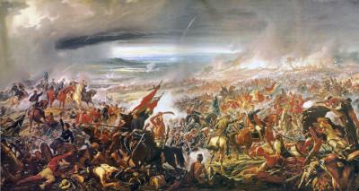 O pintor Pedro Américo, ao retratar a Batalha do Avaí, fez também uma interpretação da história