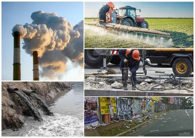 A poluição aparece em vários tipos diferentes