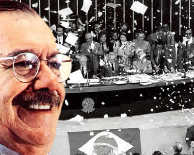 Constituição de 1988: uma das maiores conquistas do governo José Sarney.