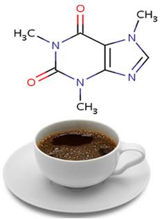Café e fórmula da cafeína