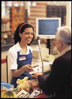 garota caixa de supermercado