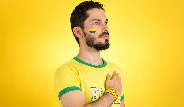 Hino Nacional do Brasil é muito cantando em competições esportivas