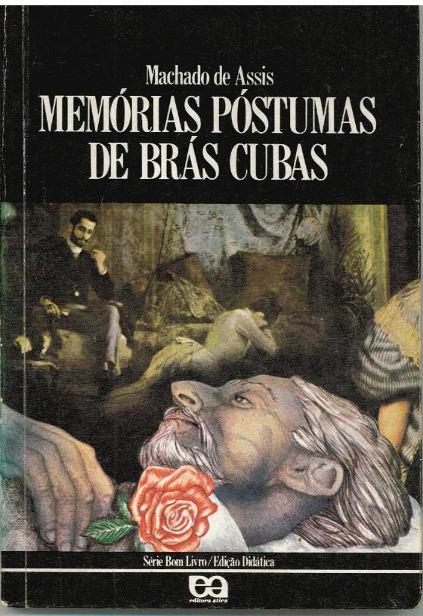 Capa do livro Memórias Póstumas de Brás Cubas, que marca o Realismo no Brasil