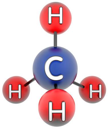 Carbono realizando quatro ligações químicas