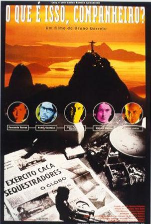"""Cartaz do filme """"O Que é isso companheiro?"""", de Bruno Barreto (LC Barreto Produções Cinematográficas), 1997"""