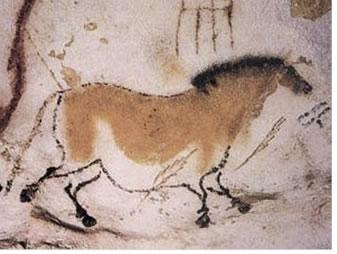 Uma das pinturas rupestres encontradas na Caverna de Lascaux, França