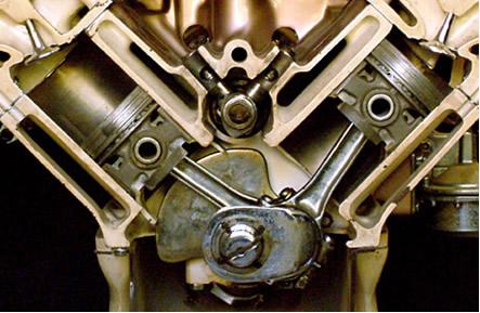Motor de combustão de quatro tempos