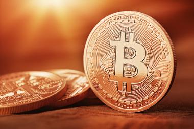 Símbolo do Bitcoin, o dinheiro virtual