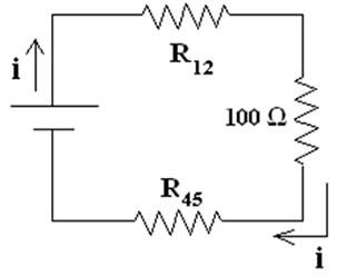 Circuito elétrico com resistores associados em série