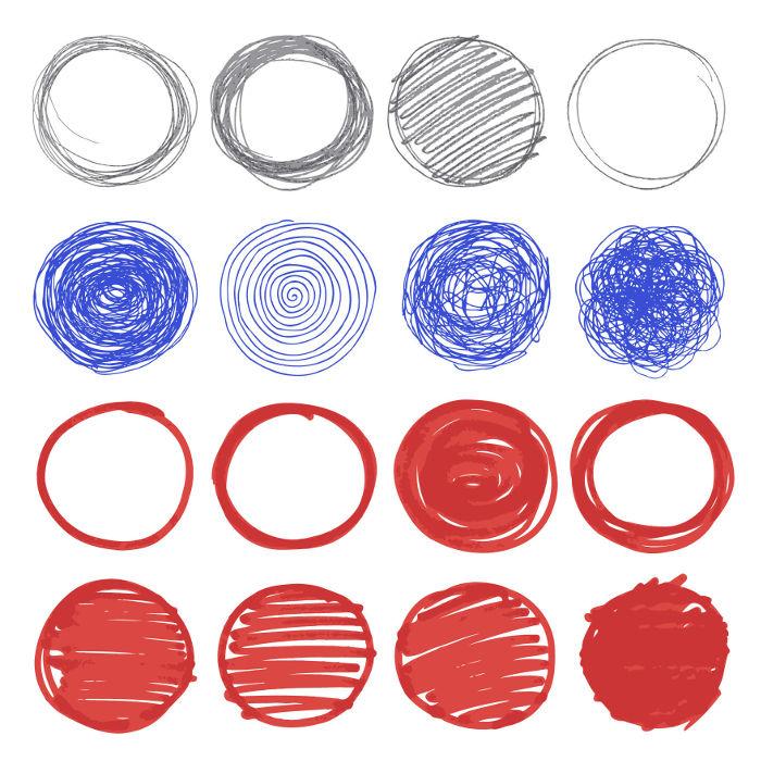 Círculos são a união entre uma circunferência e seus pontos interiores