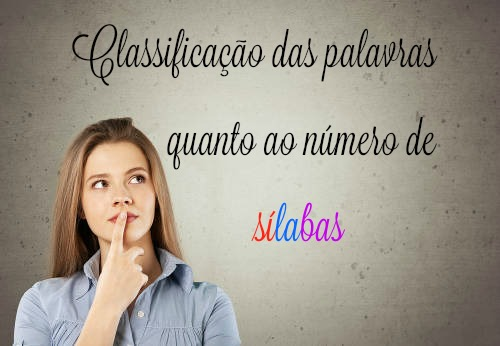 Com relação ao número de sílabas, as palavras podem ser monossílabas, dissílabas, trissílabas e polissílabas