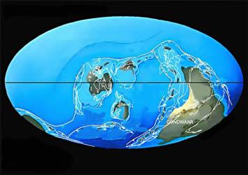 Conformação do planeta durante o Ordoviciano