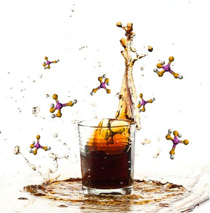 O ácido fosfórico presente nos refrigerantes é também chamado de ácido ortofosfórico, porque, entre os ácidos do fósforo, ele é o mais hidratado