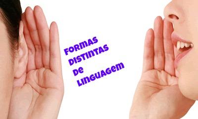 Demarcando as diferentes circunstâncias de comunicação, eis que nos deparamos com as formas variadas de linguagem