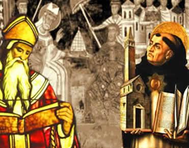 Santo Agostinho e São Tomás de Aquino: dois expoentes do pensamento filosófico medieval.