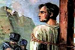 Frei Caneca, um dos líderes populares morto pela autoridade imperial.