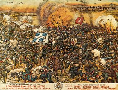 A Batalha de Sangarios foi uma das mais importantes da Guerra Greco-Turca