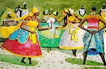 Dança ritualística que invoca os orixás.