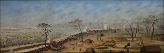 A Guerra contra Aguirre levou à Guerra do Paraguai. Em Trincheira de Curupaytí, tela de Cándido López, uma batalha dessa última guerra é retratada