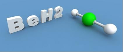 O hidreto de berílio é uma molécula que se forma em virtude da hibridização do berílio
