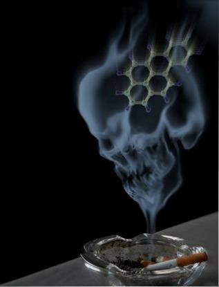 O benzopireno é um agente cancerígeno que muda a estrutura do DNA humano e está presente na fumaça do cigarro