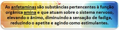 Definição conceitual de anfetaminas