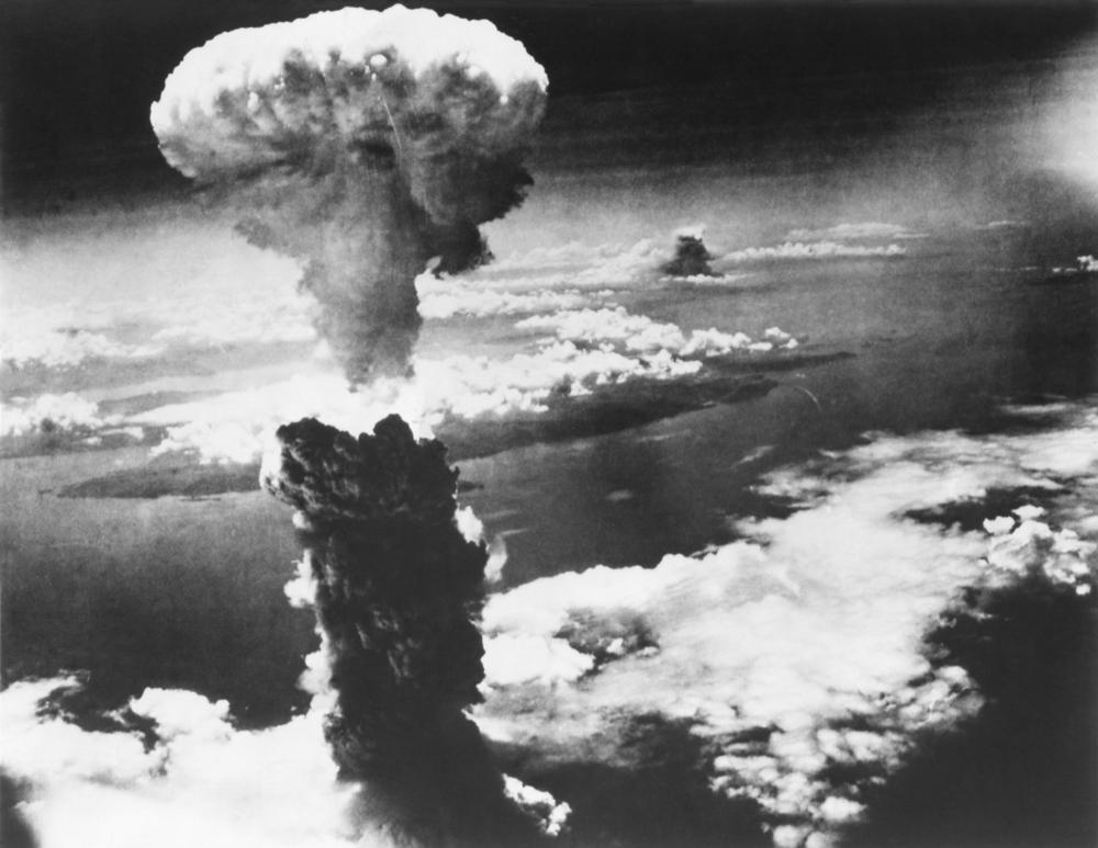 Detonação da bomba de plutônio, lançada em Nagasaki, em 9 de agosto de 1945