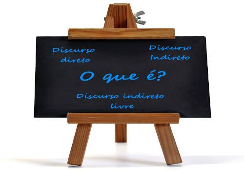 Discurso direto, indireto e indireto livre são modelos linguísticos que podem reproduzir as falas de um diálogo
