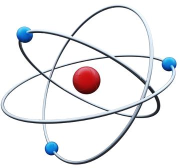Os prótons do núcleo atraem os elétrons da eletrosfera de um átomo