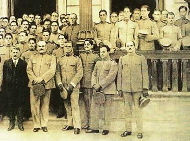 Alguns membros da equipe médica designada para a Primeira Guerra Mundial.