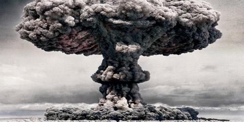 A bomba atômica é resultado da fissão nuclear.