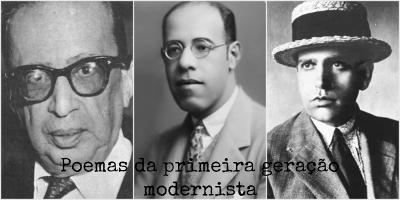 Manuel Bandeira, Mário e Oswald de Andrade formaram a famosa tríade modernista, cuja poesia rompeu com os padrões estéticos vigentes
