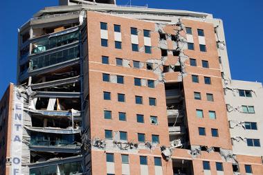 Edifício danificado pelo terremoto do Chile em 2010